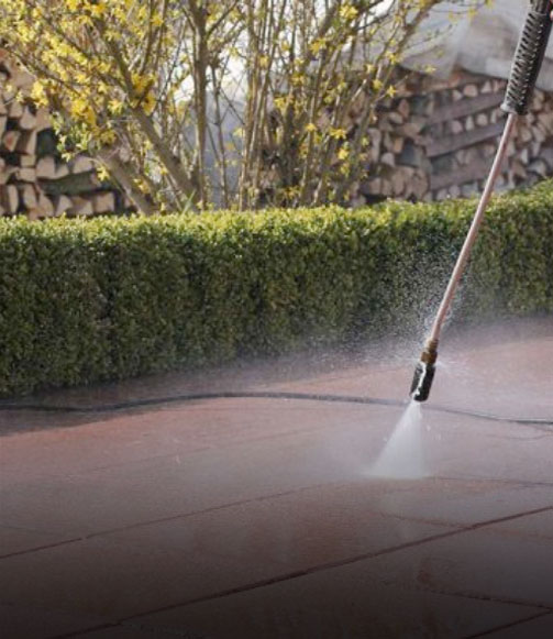 High Pressure Cleaning Paved Area Like New